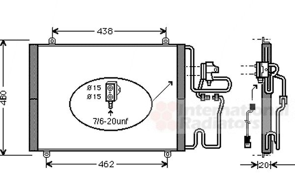 Condenseur, climatisation - VAN WEZEL - 43005219
