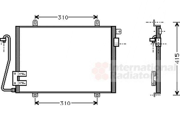 Condenseur, climatisation - VAN WEZEL - 43005232