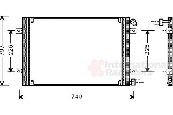 Condenseur, climatisation - VAN WEZEL - 43005234