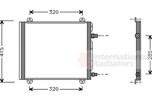 Condenseur, climatisation - VAN WEZEL - 43005235