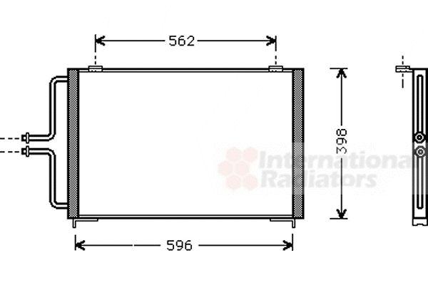 Condenseur, climatisation - VAN WEZEL - 43005236