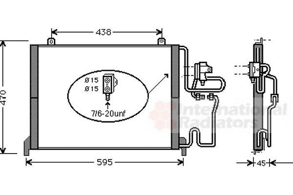 Condenseur, climatisation - VAN WEZEL - 43005245