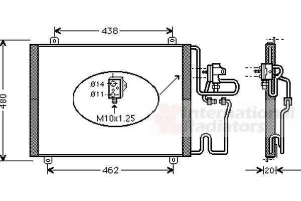 Condenseur, climatisation - VWA - 88VWA43005246