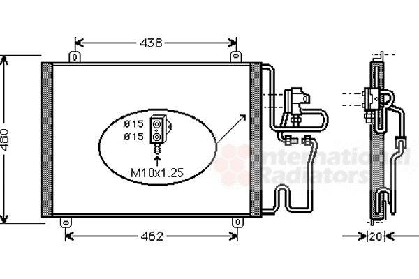 Condenseur, climatisation - VAN WEZEL - 43005247