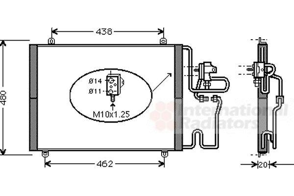 Condenseur, climatisation - VAN WEZEL - 43005248