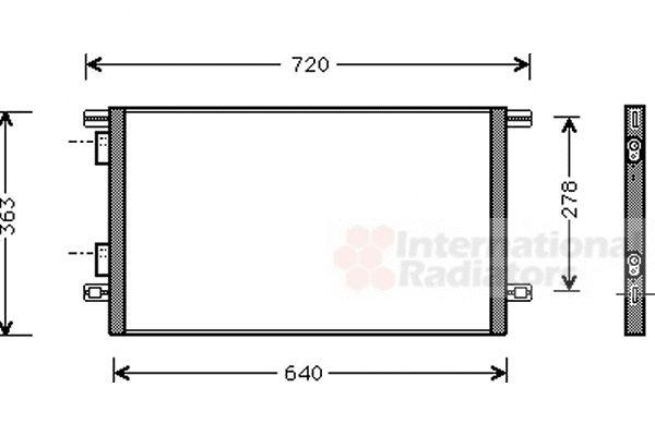 Condenseur, climatisation - VAN WEZEL - 43005253