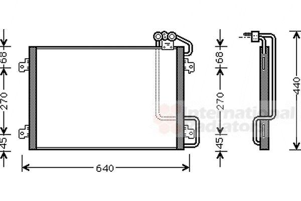 Condenseur, climatisation - VAN WEZEL - 43005273