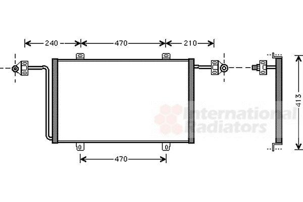 Condenseur, climatisation - VAN WEZEL - 43005278