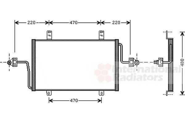 Condenseur, climatisation - VAN WEZEL - 43005279