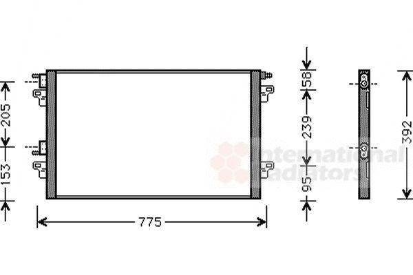Condenseur, climatisation - VAN WEZEL - 43005280