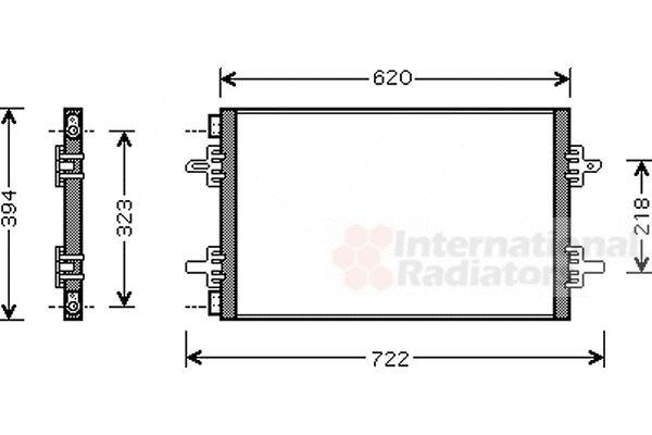 Condenseur, climatisation - VAN WEZEL - 43005294