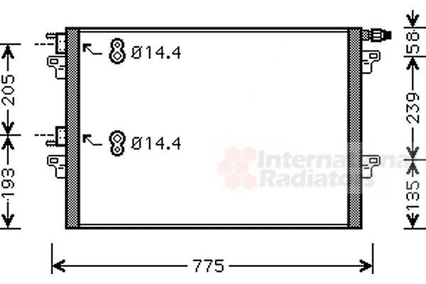 Condenseur, climatisation - VAN WEZEL - 43005297
