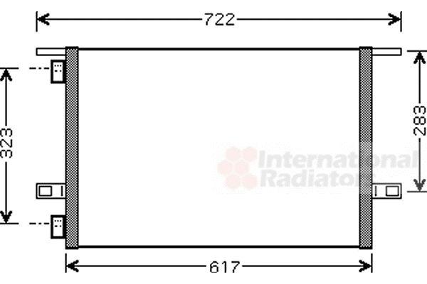 Condenseur, climatisation - VAN WEZEL - 43005304