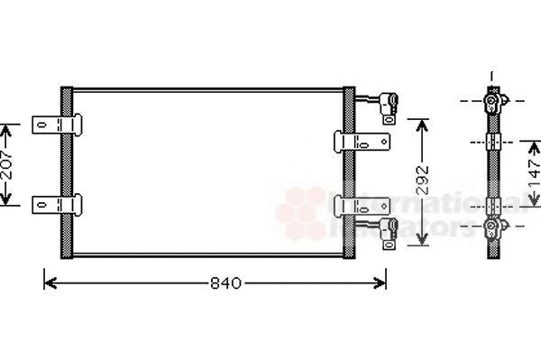 Condenseur, climatisation - VAN WEZEL - 43005314