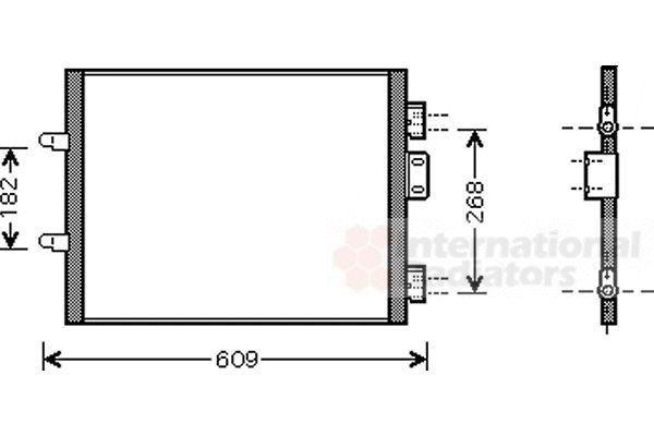 Condenseur, climatisation - VAN WEZEL - 43005315