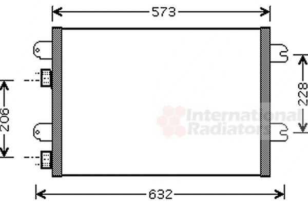 Condenseur, climatisation - VAN WEZEL - 43005317