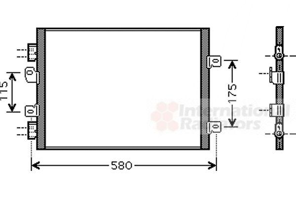 Condenseur, climatisation - VAN WEZEL - 43005341