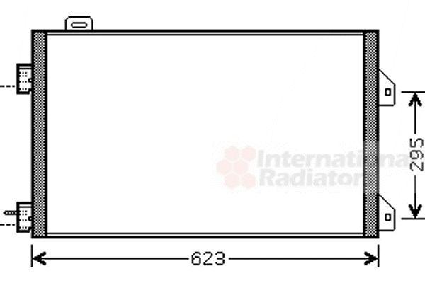 Condenseur, climatisation - VAN WEZEL - 43005347