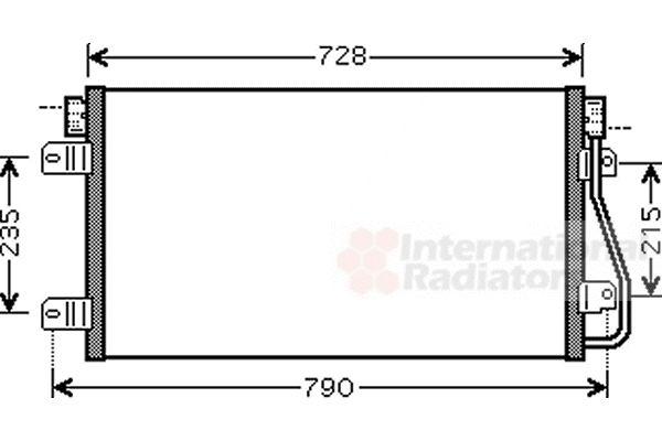 Condenseur, climatisation - VAN WEZEL - 43005348