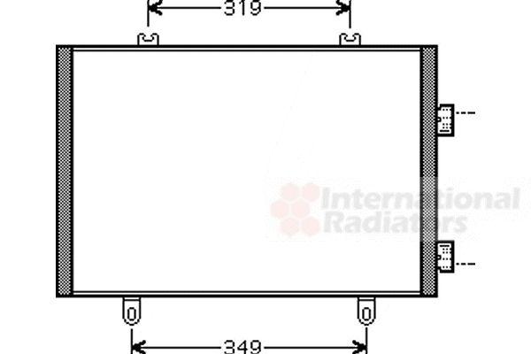 Condenseur, climatisation - VAN WEZEL - 43005349