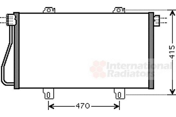 Condenseur, climatisation - VAN WEZEL - 43005352