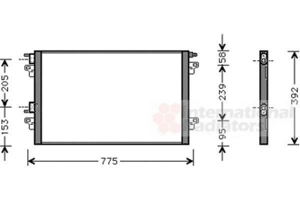 Condenseur, climatisation - VAN WEZEL - 43005366