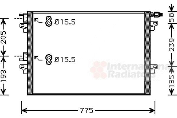 Condenseur, climatisation - VAN WEZEL - 43005382