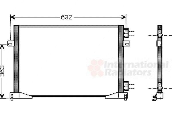 Condenseur, climatisation - VAN WEZEL - 43005400