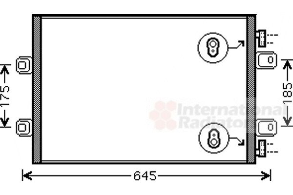 Condenseur, climatisation - VWA - 88VWA43005406