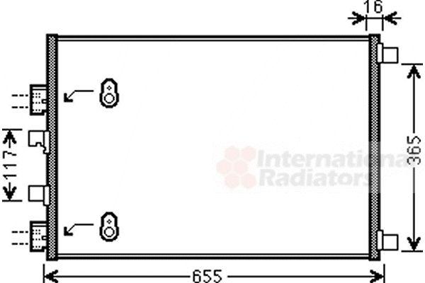Condenseur, climatisation - VAN WEZEL - 43005422