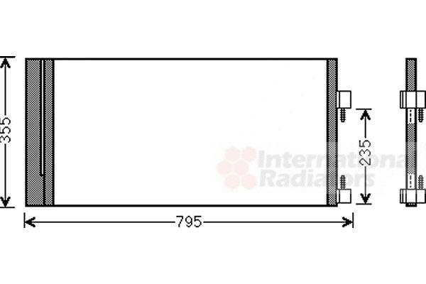 Condenseur, climatisation - VAN WEZEL - 43005430