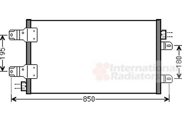Condenseur, climatisation - VAN WEZEL - 43005443