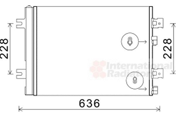 Condenseur, climatisation - VAN WEZEL - 43005467