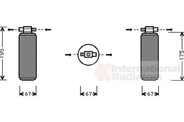 Filtre déshydratant, climatisation - VAN WEZEL - 4300D015