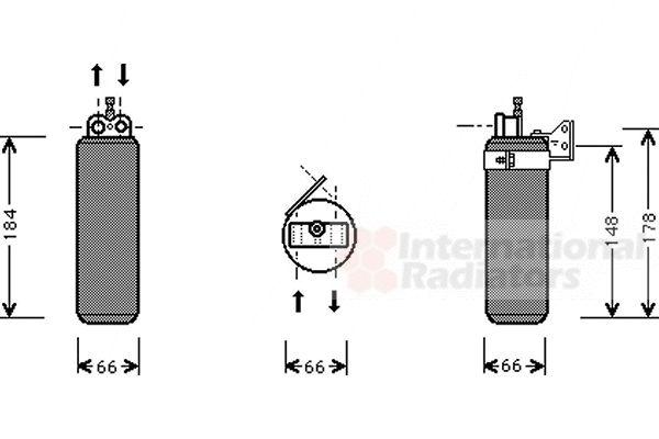 Filtre déshydratant, climatisation - VAN WEZEL - 4300D019