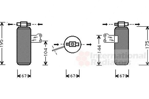 Filtre déshydratant, climatisation - VAN WEZEL - 4300D027