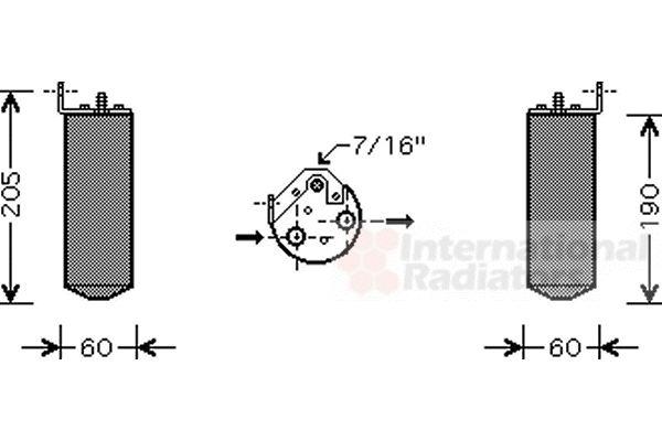 Filtre déshydratant, climatisation - VWA - 88VWA4300D036