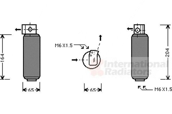 Filtre déshydratant, climatisation - VAN WEZEL - 4300D252