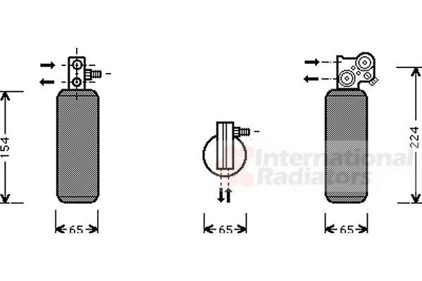 Filtre déshydratant, climatisation - VAN WEZEL - 4300D254