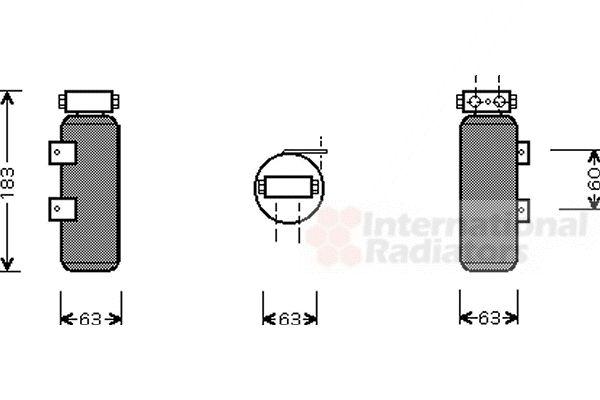 Filtre déshydratant, climatisation - VAN WEZEL - 4300D287