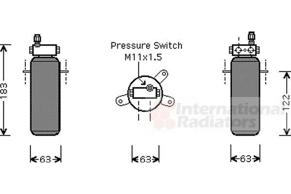 Filtre déshydratant, climatisation - VWA - 88VWA4300D288