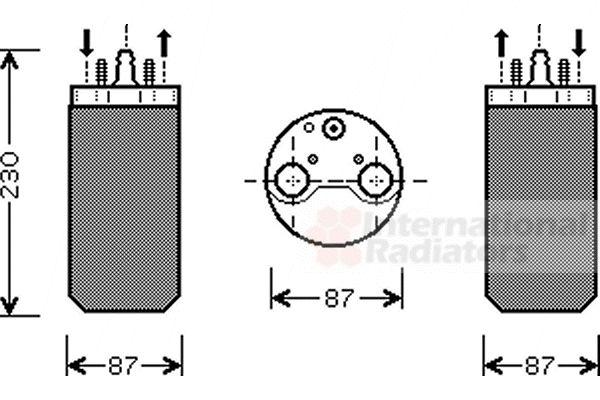 Filtre déshydratant, climatisation - VAN WEZEL - 4300D350