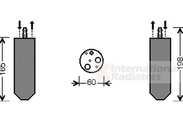 Filtre déshydratant, climatisation - VAN WEZEL - 4300D364