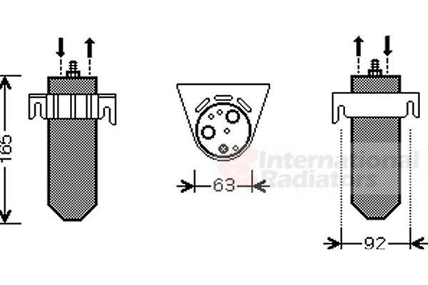 Filtre déshydratant, climatisation - VAN WEZEL - 4300D378