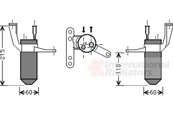Filtre déshydratant, climatisation - VAN WEZEL - 4300D428