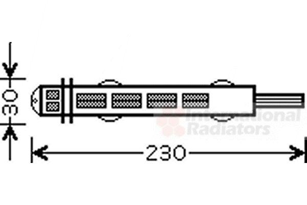 Filtre déshydratant, climatisation - VAN WEZEL - 4300D431