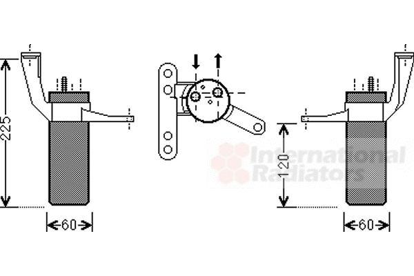 Filtre déshydratant, climatisation - VWA - 88VWA4300D442