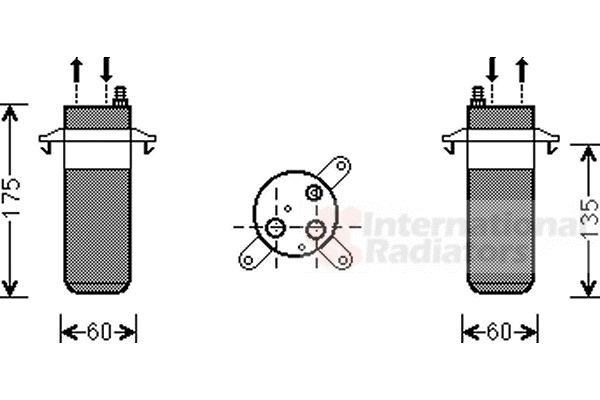 Filtre déshydratant, climatisation - VAN WEZEL - 4300D446