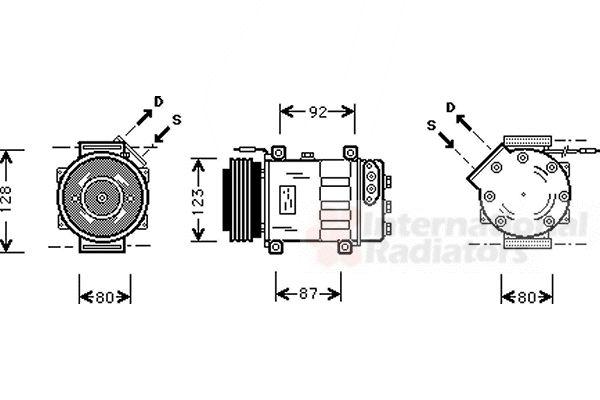 Compresseur, climatisation - VAN WEZEL - 4300K037