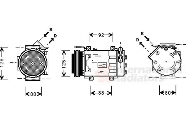 Compresseur, climatisation - VAN WEZEL - 4300K039